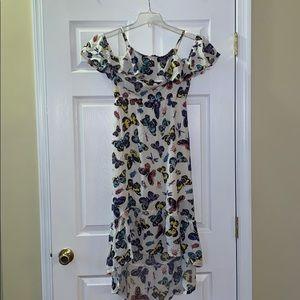 Old Navy Hi Low cold shoulder dress